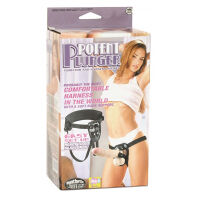 POTENT PLUNGER HARNESS WITH 8 INCH VIBRATOR
