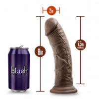 Dr. Skin 8 Cock Suction Cup Chocolate