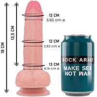 ROCK ARMY LIQUID SILICONE MUSTANG REALISTIC 18 CM